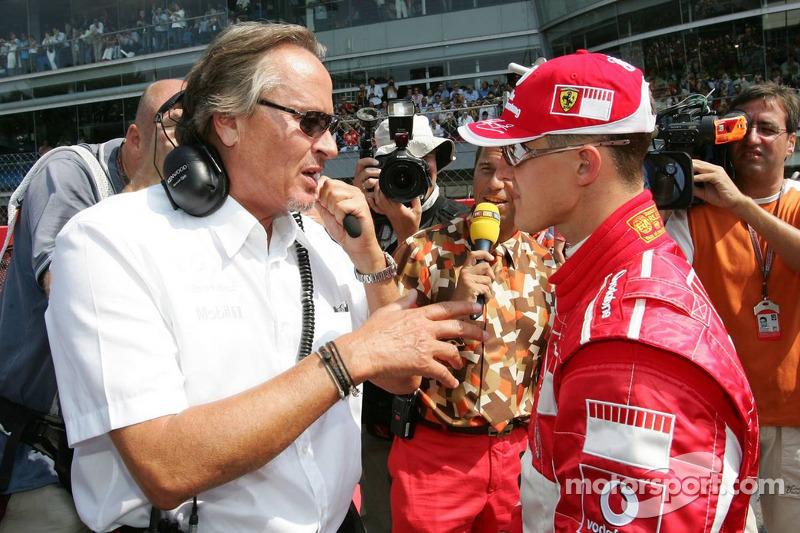 Mansour Ojeh y Michael Schumacher