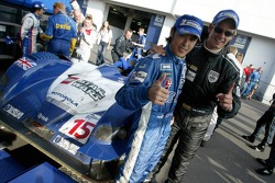 Race winners Hayanari Shimoda and Tom Chilton celebrate