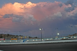Sunset over track