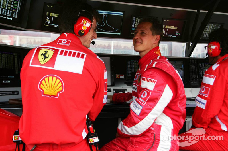 Michael Schumacher con Chris Dyer