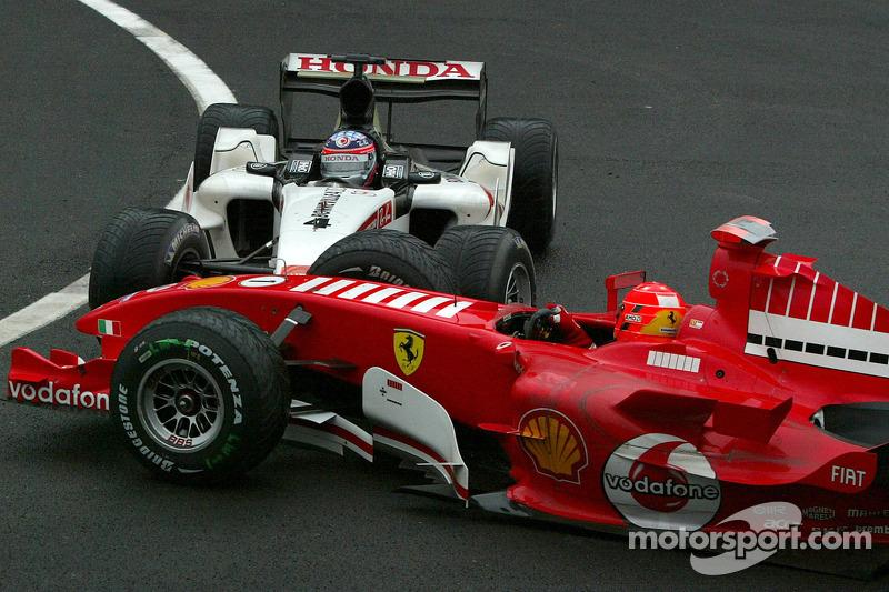 Accidente de Michael Schumacher y Takuma Sato