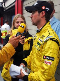 Tiago Monteiro celebrates 8th place finish
