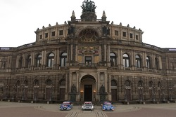 DTM cars in front of the Semper Opera in Dresden