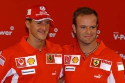 Shell press conference: Michael Schumacher and Rubens Barrichello