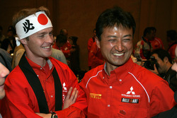 Mitsubishi media event: Harri Rovanpera and Isao Torii