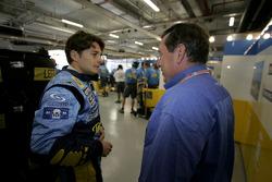 Giancarlo Fisichella and Patrick Faure