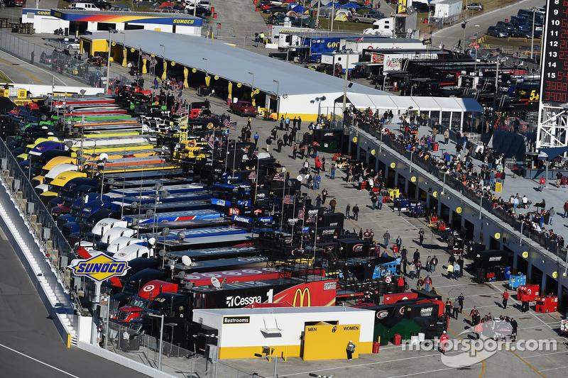 Die NASCAR Caup-Garagen