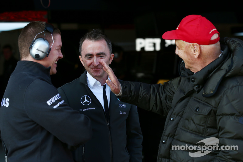 Paddy Lowe, Mercedes AMG F1 Executive Director, and Niki Lauda, Mercedes Non-Executive Chairman