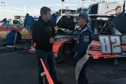 Austin Hill talking with Ryan Ellis.