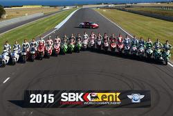 Les pilotes du World Superbike prennent la pose