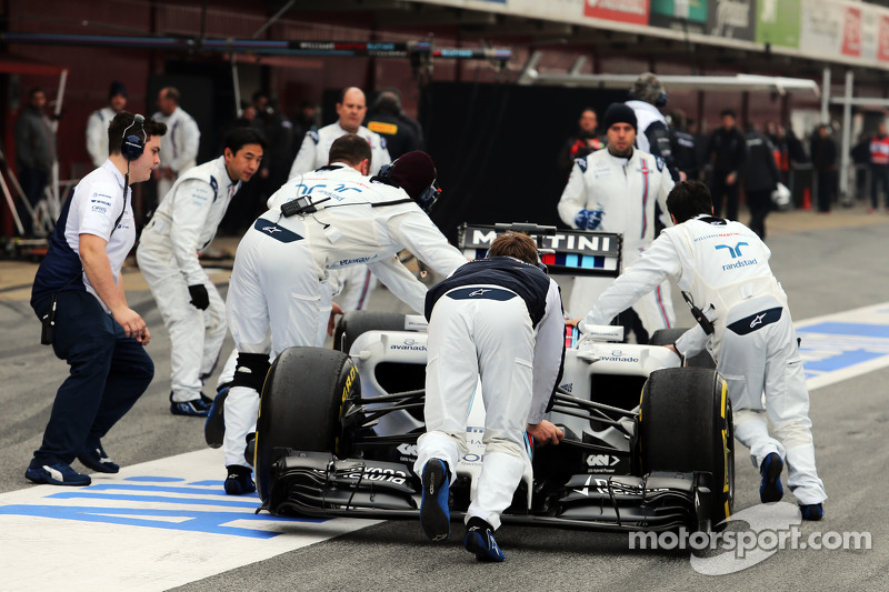 Felipe Massa, Williams FW37, in der Box