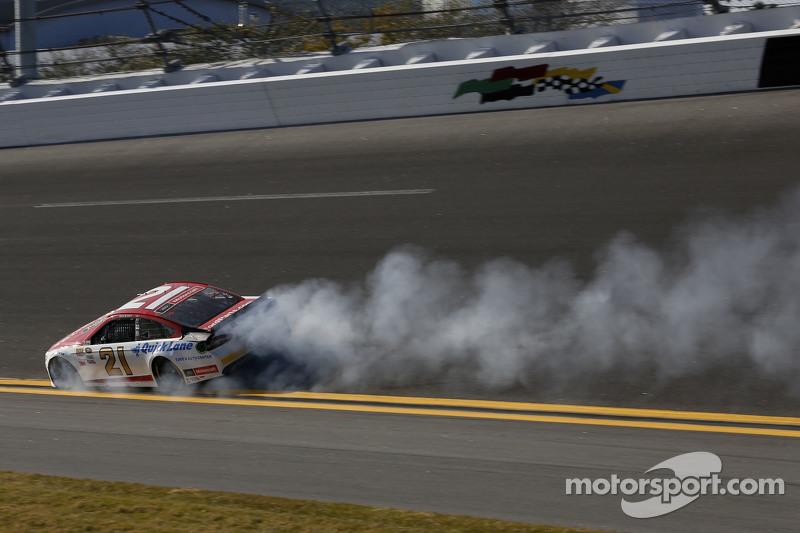 Ryan Blaney, Team Penske, Ford, in Schwierigkeiten