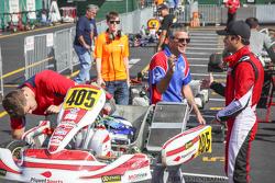 Danny Formal und Nelson Piquet jr. mit Streckenbesitzer André Martins