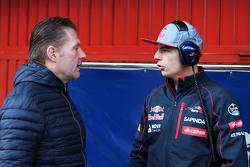 Max Verstappen, Scuderia Toro Rosso, mit seinem Vater Jos Verstappen