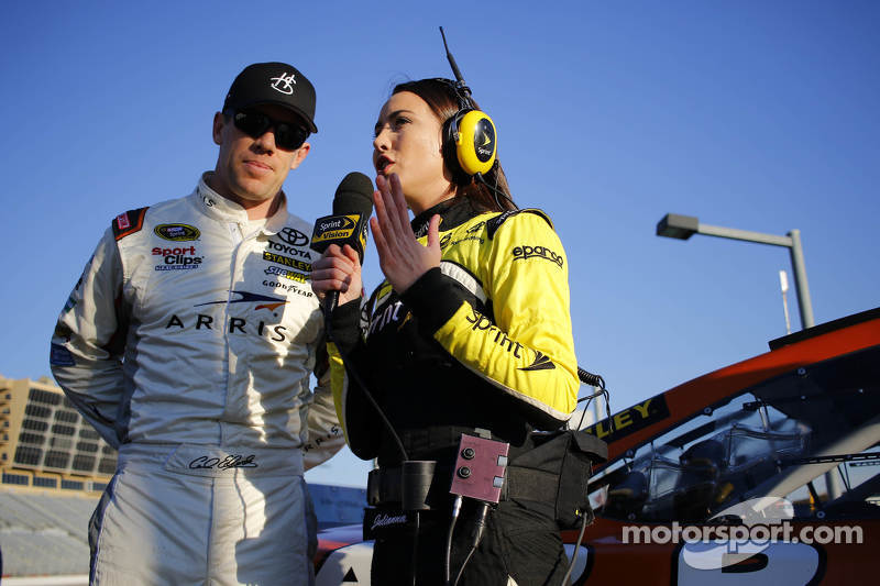Carl Edwards, Joe Gibbs Racing Toyota with Miss Sprint Cup