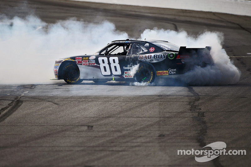 Kevin Harvick, JR Motorsports Chevrolet celebrates