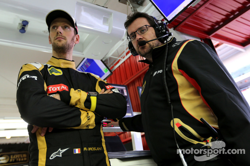 Romain Grosjean, Lotus F1 Team e Julien Simon-Chautemps, Romain Grosjean engenheiro de corrida, Lotus F1 Team