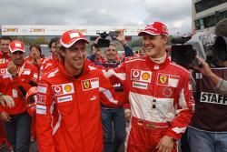 Luca Badoer et Michael Schumacher
