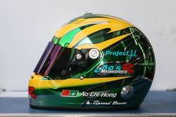 Photoshoot: helmet of Hironori Takeuchi