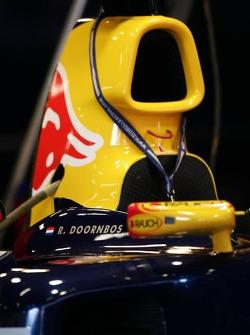 Name of Robert Doornbos on the Red Bull Racing car
