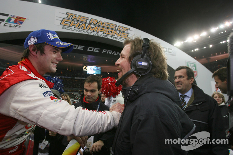 Ganador de la Carrera de Campeones Sébastien Loeb con Fredrik Johnsson