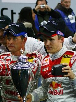 Nations Cup 2005 winners Tom Kristensen and Mattias Ekström celebrate