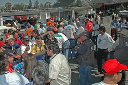 Paddock crowd