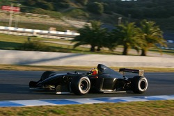 Olivier Beretta tests wet track for Michelin in a Formula Nissan car