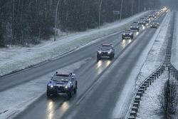 Volkswagen Motorsport departure in Wolfsburg: the Volkswagen Motorsport team leaves Wolfsburg