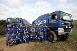 Team de Rooy: rally truck drivers and co-drivers Jan de Rooy, Dany Colebunders, Robert van den Broek, Gerard de Rooy, Tom Colsoul, Arno Slaats, Hugo Duisters, Yvo Geusens and Mohamed El Bouzidi, with service trucks drivers and co-drivers Frits Vlijmincx,