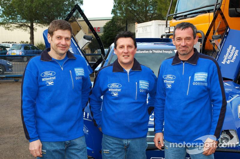 Team Gauloises Schlesser: les co-pilotes François Borsotto, William Alcaraz et Arnaud Debron