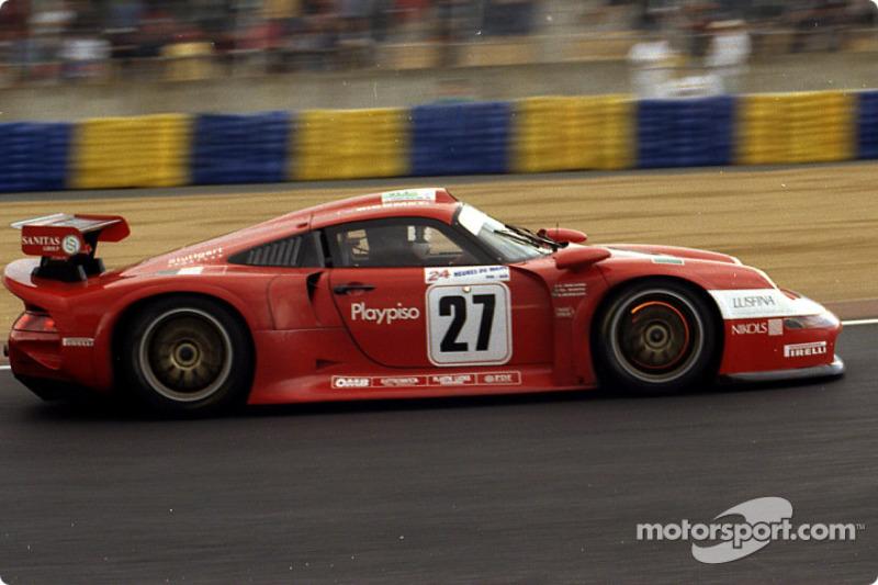 #27 BMS Scuderia Italia Porsche 911 GT1: Pierluigi Martini, Christian Pescatori, Antonio Hermann