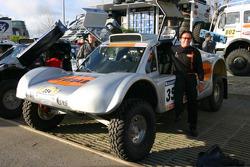 Ronn Bailey with the 2006 Vanguard Racing Rally Car
