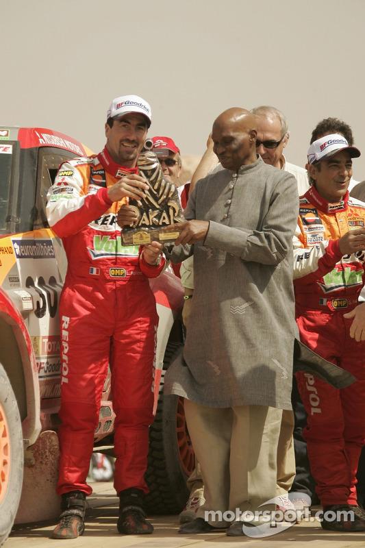 Luc Alphand le vainqueur de la catégorie Autos