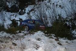 The Citroën Xsara of Sébastien Loeb after his crash