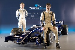 Mark Webber and Nico Rosberg with the new Williams FW28