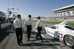 Patrick Long, Lucas Luhr and Mike Rockenfeller