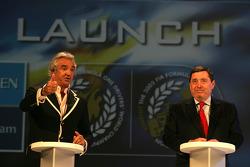 Flavio Briatore and Patrick Faure on stage