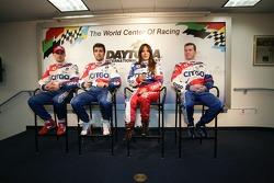 CITGO Racing press conference: Marino Franchitti, Dario Franchitti, Milka Duno and Kevin McGarrity