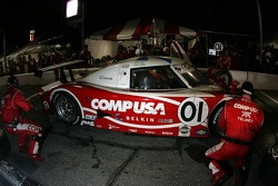Pitstop for #01 CompUSA Chip Ganassi with Felix Sabates Lexus Riley: Scott Pruett, Luis Diaz, Max Papis