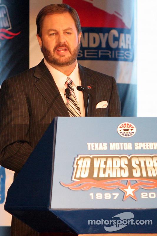 Eddie Gossage,le président et manager général de Texas Motor Speedway