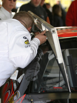 A NASCAR official at work