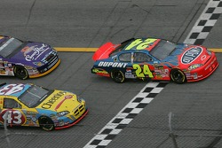 Green flag: Jeff Gordon leads Bobby Labonte