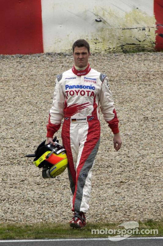 Ralf Schumacher after his spin