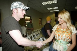Recording artist Jewel meets Dale Earnhardt Jr.