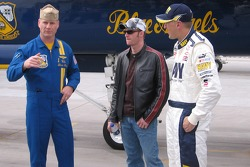 Blue Angels event in El Centro: Dale Earnhardt Jr. and Mark McFarland about to try a F/A 18 Hornet