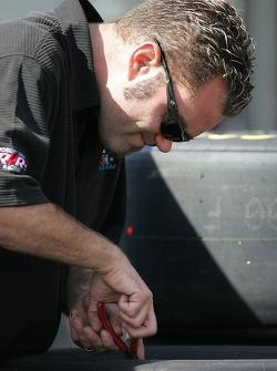 Robert Yates Racing crew member at work
