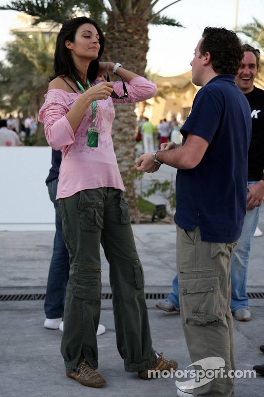David Coulthard's new girlfriend, TF1 reporter Karen Minier