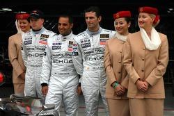 McLaren announces Emirates as a new sponsor: Kimi Raikkonen, Juan Pablo Montoya and Pedro de la Rosa