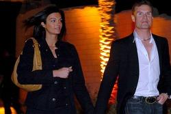 David Coulthard with new girlfriend, TF1 reporter Karen Minier